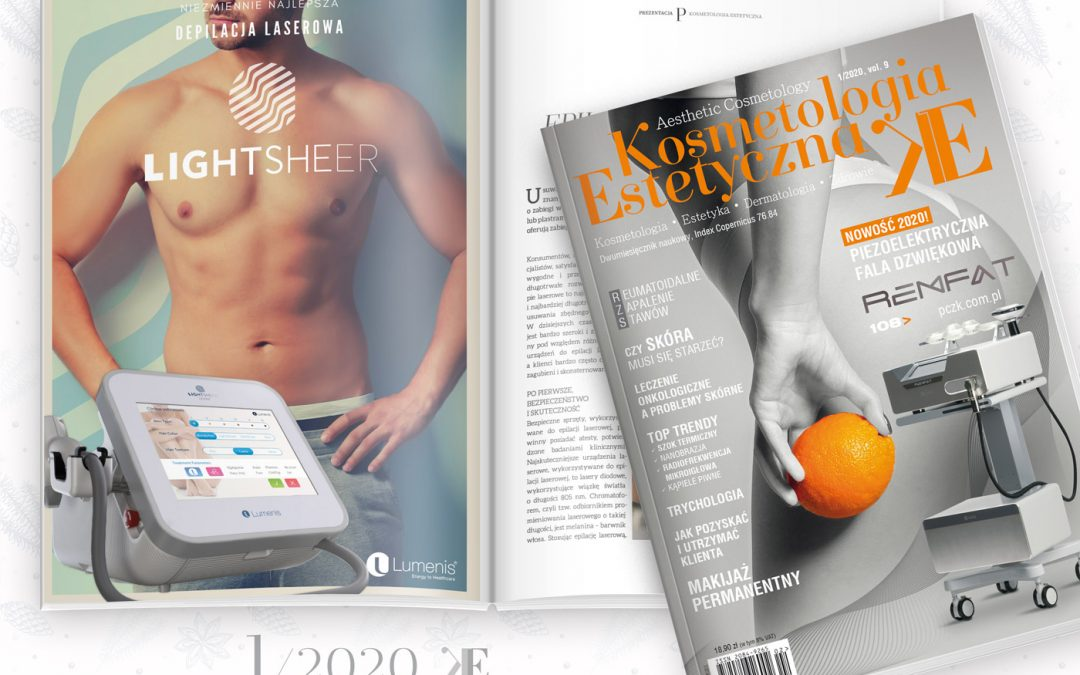 Nasz artykuł dotyczący depilacji laserowej w najnowszym wydaniu Kosmetologii Estetycznej